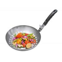Wok za peko zelenjave na žaru s snemljivo ročko