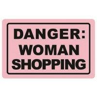 Zaščita kartic pred RFID skeniranjem, Danger, woman shopping