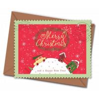 Božično-novoletna čestitka v kuverti, Merry Christmas