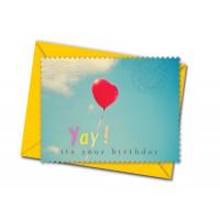 Čestitka v kuverti, Balloon Heart