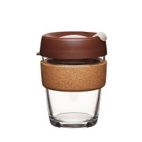 Keepcup Brew stekleni lonček s plutovinastim obročkom Almond, 340 ml