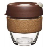 Keepcup Brew stekleni lonček s plutovinastim obročkom Almond, 227 ml