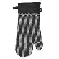 Rokavica za vročo posodo 18 x 38 cm Professional Series III črte, črna