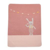 Odeja Juwel z vezenim motivom 70 x 90 cm, zajček - roza