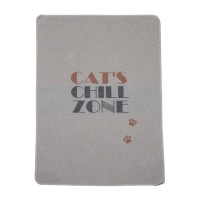 "Odeja Pet 70 x 90cm, ""cat's chill zone"" - siva"