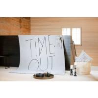 "Odeja Savona 150 x 200 cm, ""TIME OUT"" - siva"