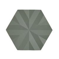 Šestkotni silikonski podstavek Ori Flake, olivno zelen