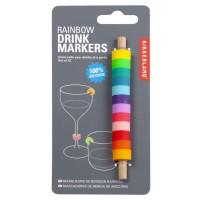 Set 12 barvitih označevalcev za kozarce za vino