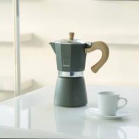 Kafetiera Venezia za 3 skodelice kave primerna za indukcijo, siva