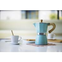 Kafetiera Venezia za 3 skodelice kave primerna za indukcijo, modra