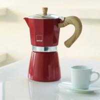 Kafetiera Venezia za 6 skodelic kave primerna za indukcijo, rdeča