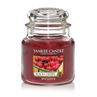 Dišeča sveča yankee candle, srednja - black cherry