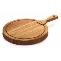 Okrogla deska iz hrastovega lesa Friends, premer 29,5 cm