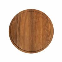 Okrogla deska iz hrastovega lesa Pizza Friends, premer 29 cm