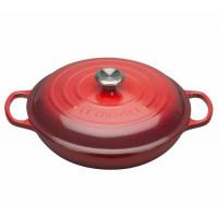 Buffet casserole coastal 30 cm z jeklenim gumbom, rdeča