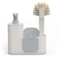 Stojalo z dozirnikom za čistilo, ščetko in gobico za pomivanje posode Zeroline