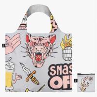LOQI zložljiva vrečka Snask, Recycled - siva