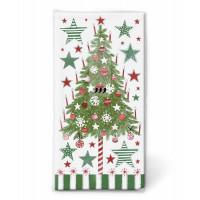 Papirnati robčki božično drevo