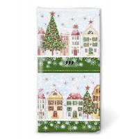 Papirnati robčki božič v mestu