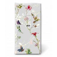 Papirnati robčki, metulji in cvetje