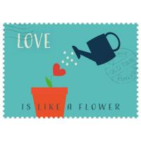 Čestitka – kartica, Love is like a flower