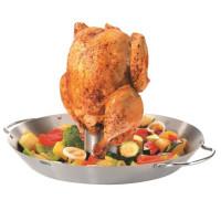 Wok za peko zelenjave in piščanca na žaru