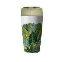 Biorazgradljiv lonček Bioloco plant deluxe 420ml, Exotic leaves