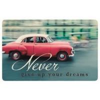 Zaščita kartic pred RFID skeniranjem, Never give up your dreams