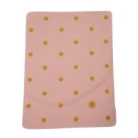 Odeja Juwel z vezenim motivom 70 x 90 cm, sončki - roza