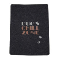 "Odeja Pet 70 x 90cm, ""dog's chill zone"" - oglje"