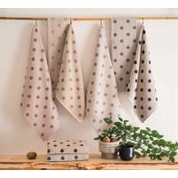 Kuhinjska brisača 50 x 50 cm pike, rjava