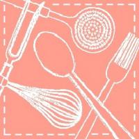Kuhinjska brisača 50 x 50 cm kuhinjski pripomočki, rdeča