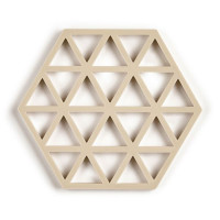 Šestkotni silikonski podstavek trikotniki, breza