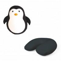 Potovalna blazina Zip & Flip, pingvin