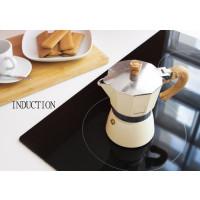 Kafetiera Venezia za 6 skodelic kave primerna za indukcijo, krem