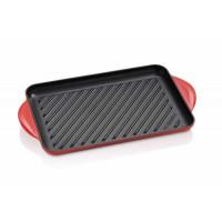 Pravokotna gril plošča 32 cm, rdeča
