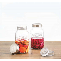 Set 2 litrskih kozarcev za fermentiranje