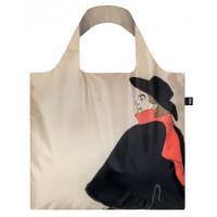 LOQI zložljiva vrečka Toulouse Lautrec Jane Avril & Aristide Bruant
