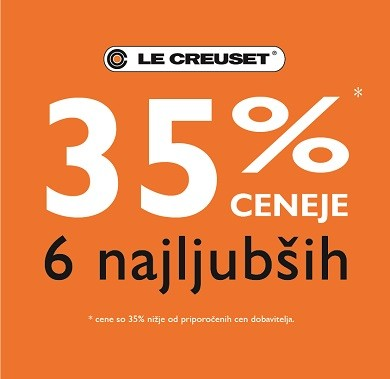 Posoda in ponve Le Creuset: -35 %